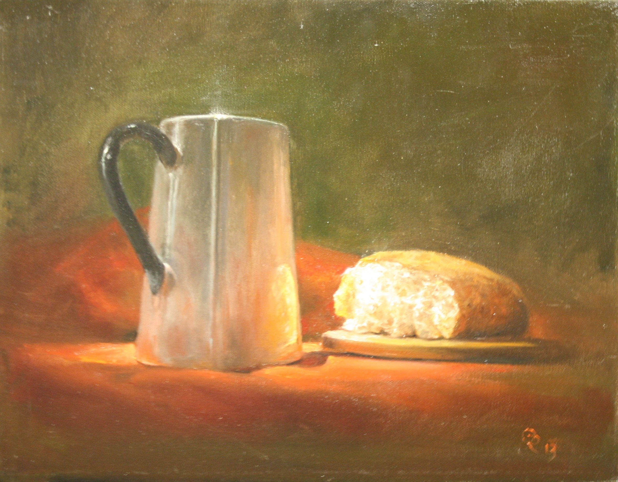 Kettle and bread
