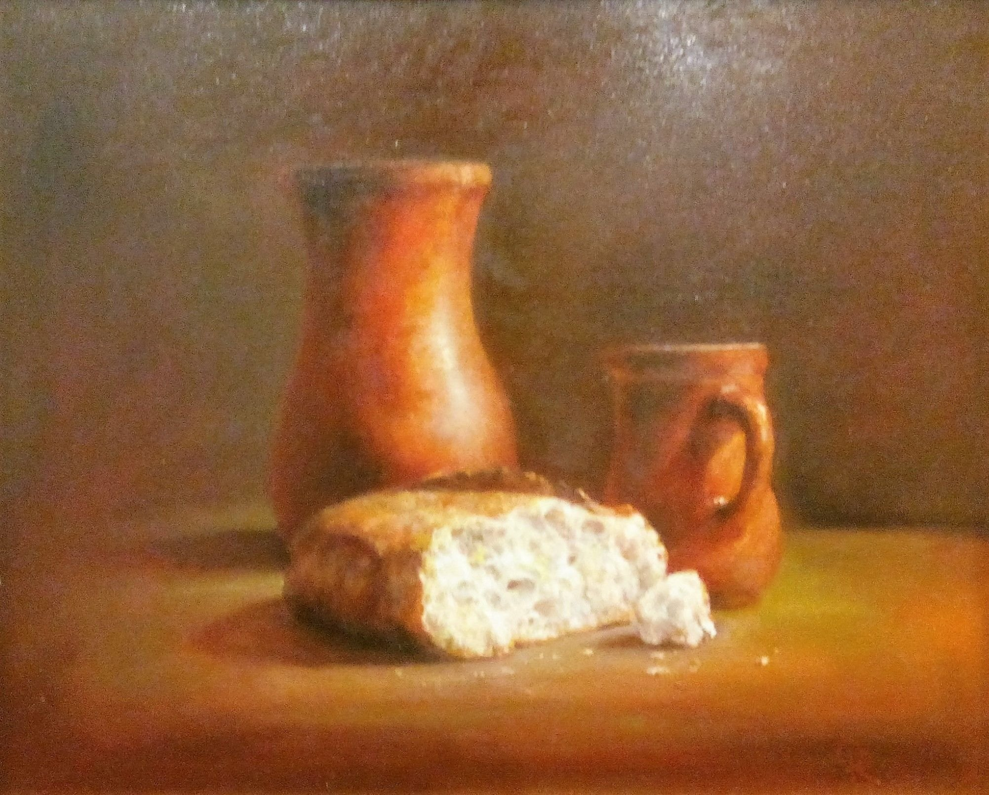Bread and two jugs