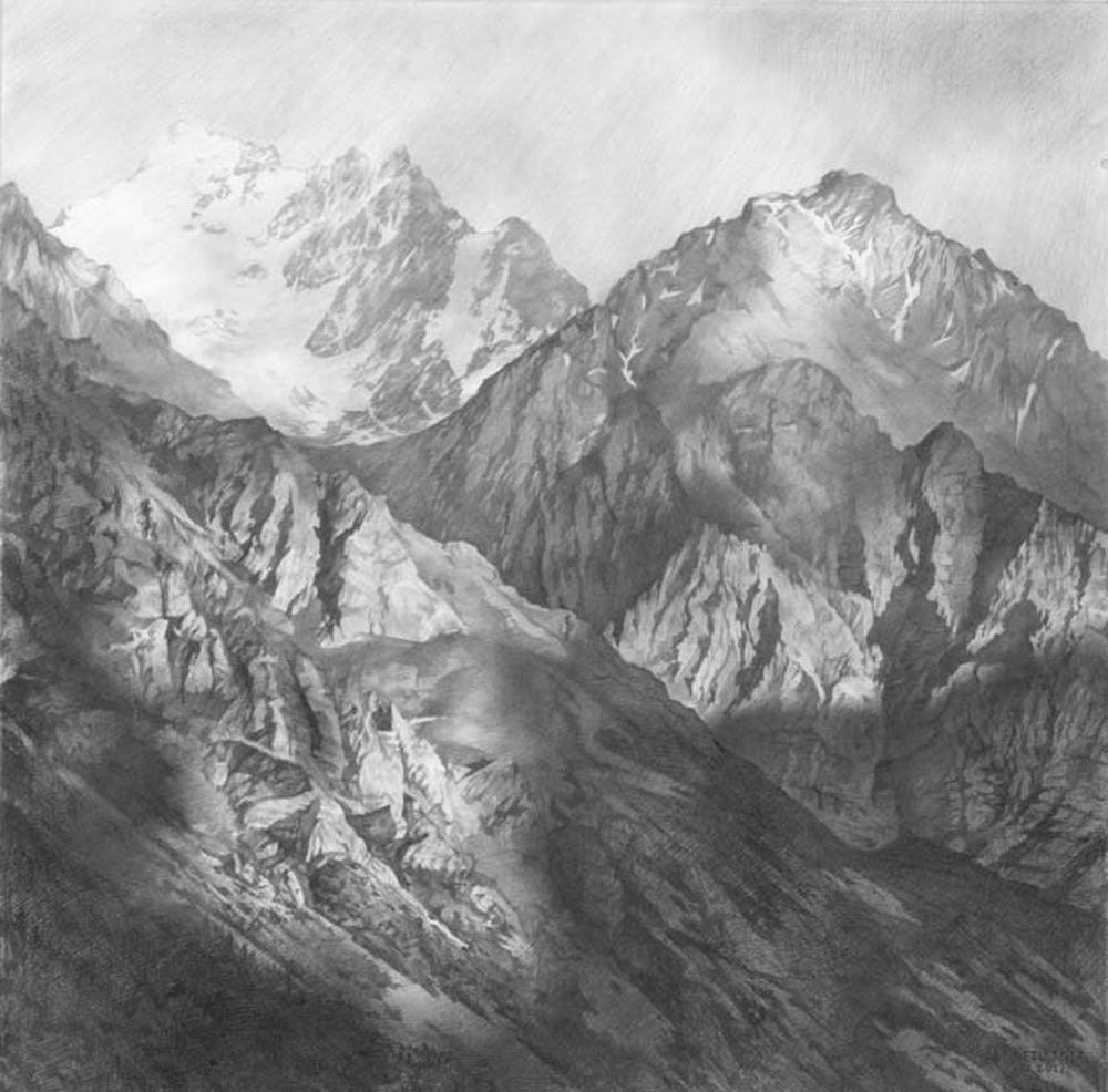 Mountains in a square
