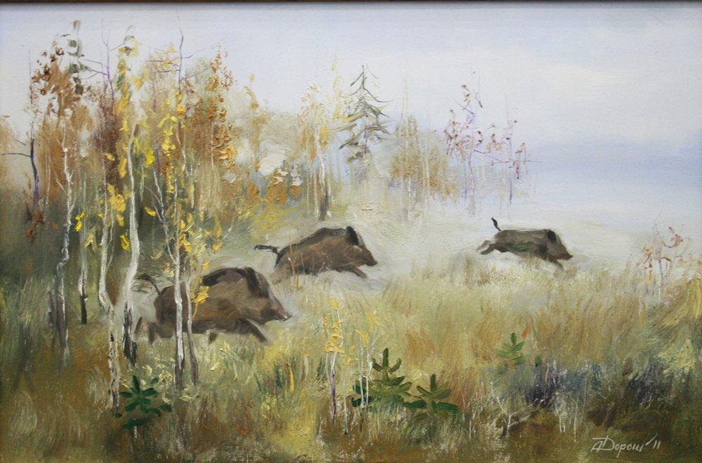 Wild boars. First pen