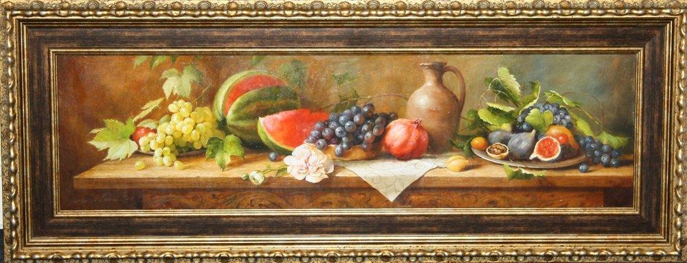Горизонтальний натюрморт з фруктами
