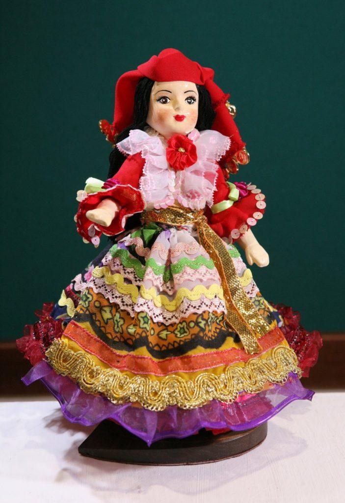 Худ. лялька Аза (циганський костюм)