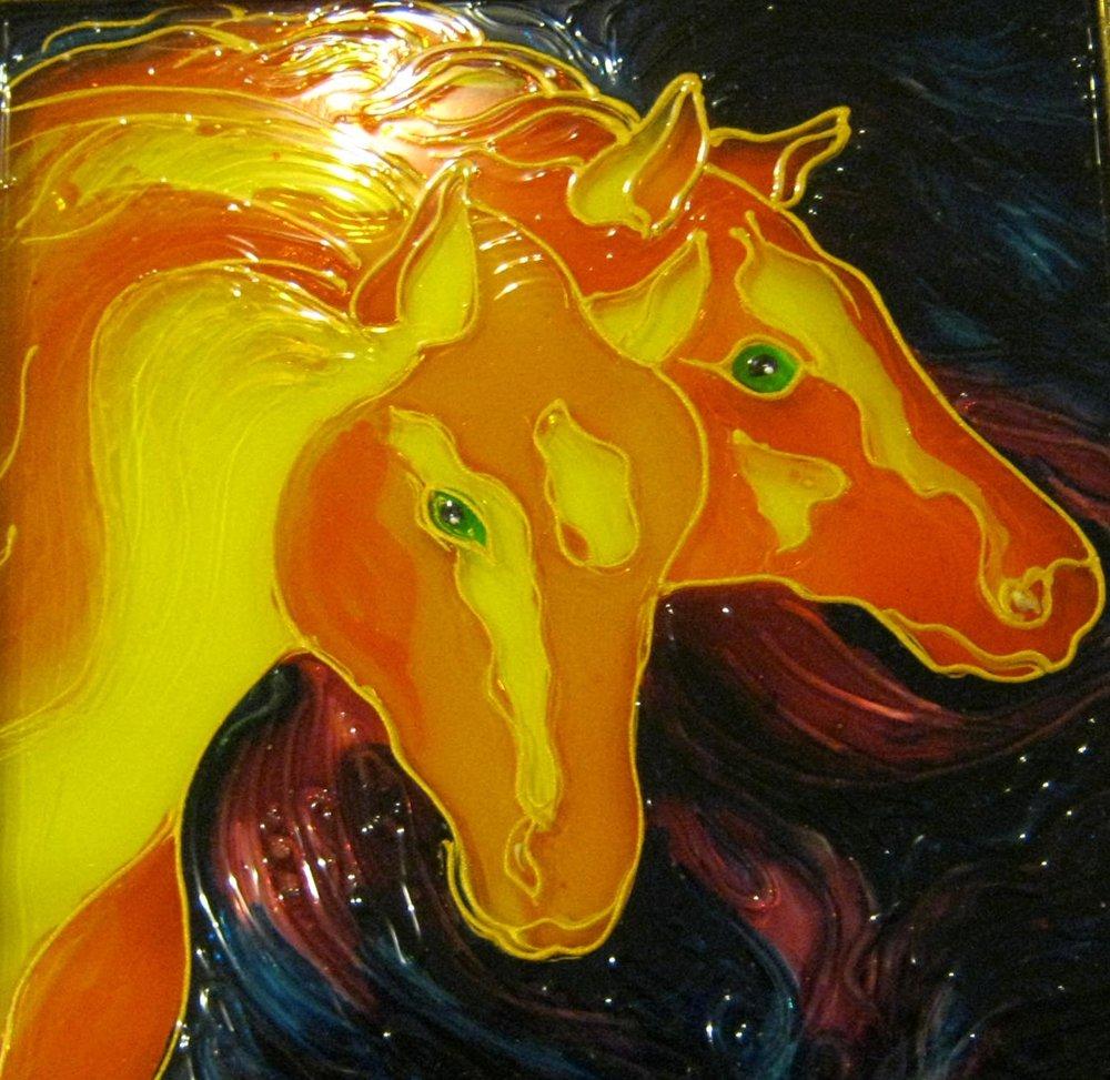 Sunny horses