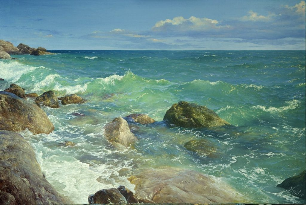 Sea in april