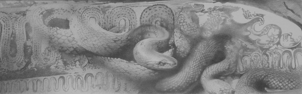 The snake is a symbol of the passage of time