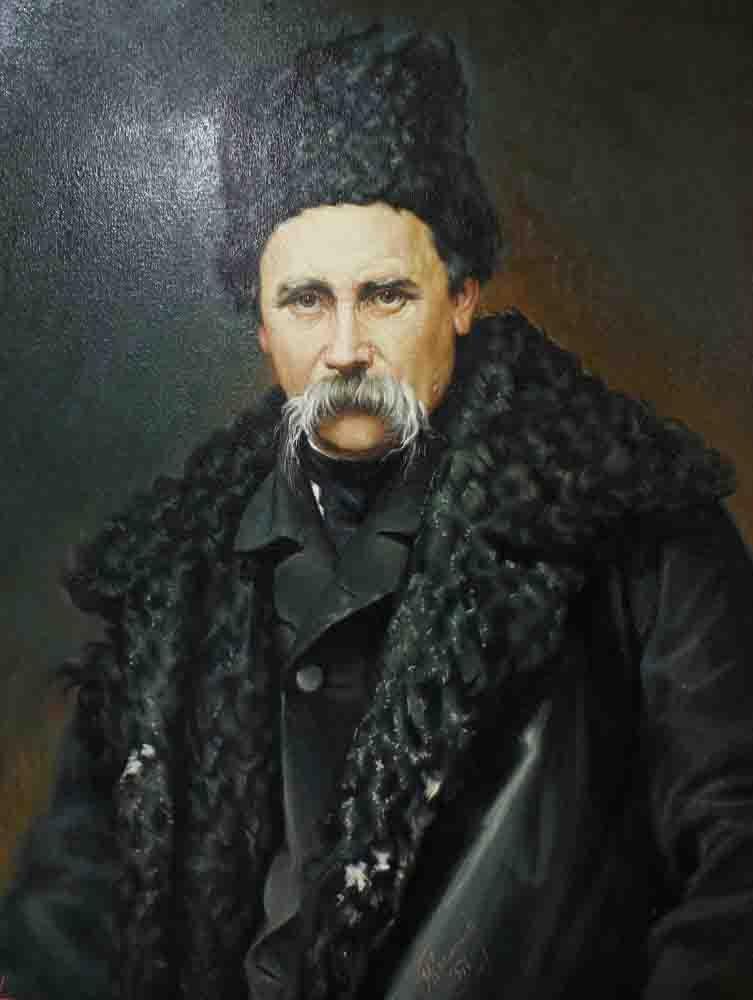 Taras Shevchenko (copy from the artwork by I. M. Kramskoy)
