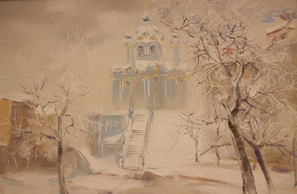 Андріївська церква взимку