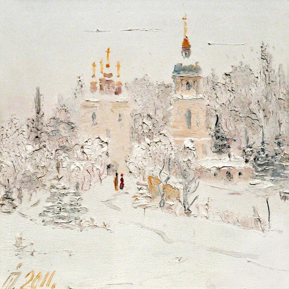 Winter on Vydubichi