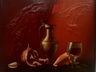 Still life with a pomegranate