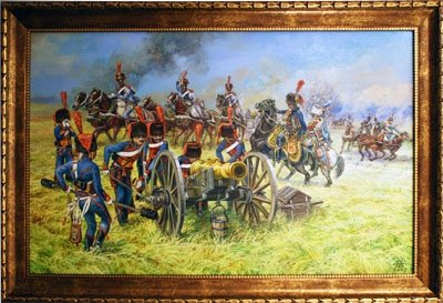 French Guard Horse Artillery in battle