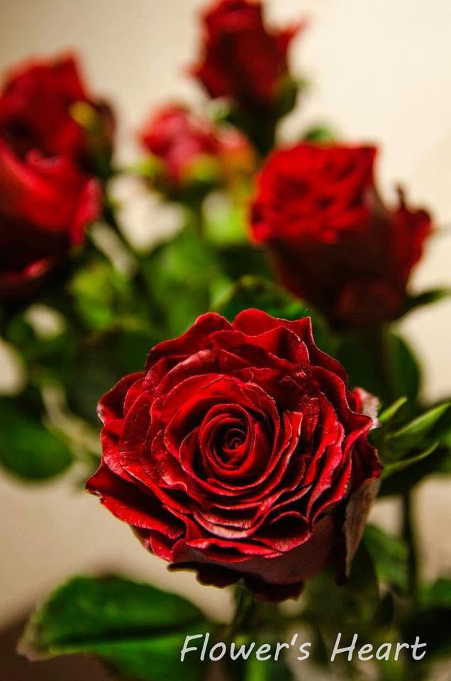 Квіти з холодного фарфору