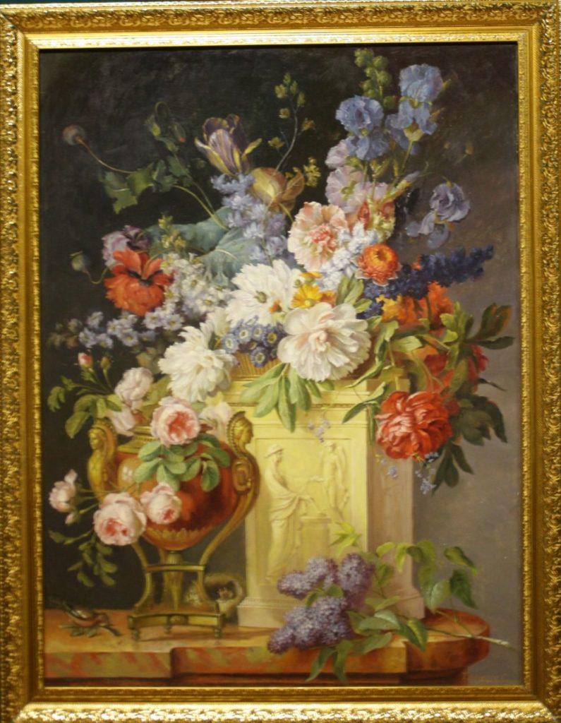 Натюрморт в мраморной вазе