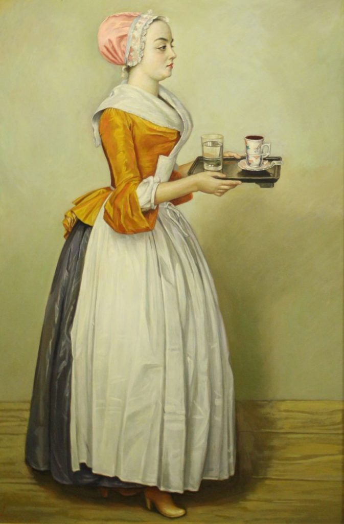 The Chocolate Girl (copy from the artwork by Jean-Étienne Liotard)