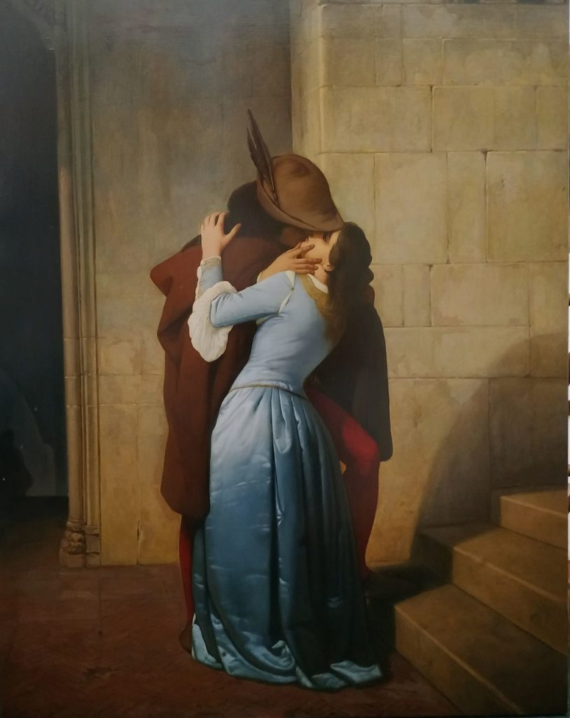 Kiss (copy from the artwork by Francesco Hayez)