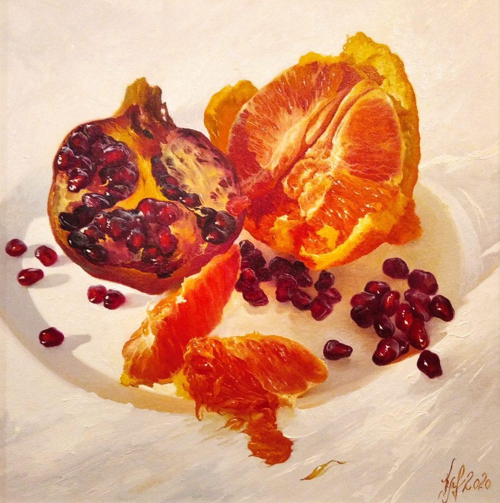Гранат і апельсин
