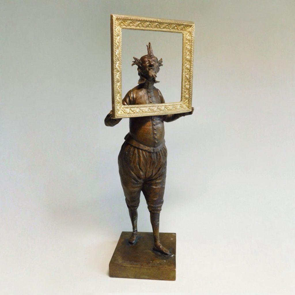 Self-portrait, bronze sculpture, limited edition