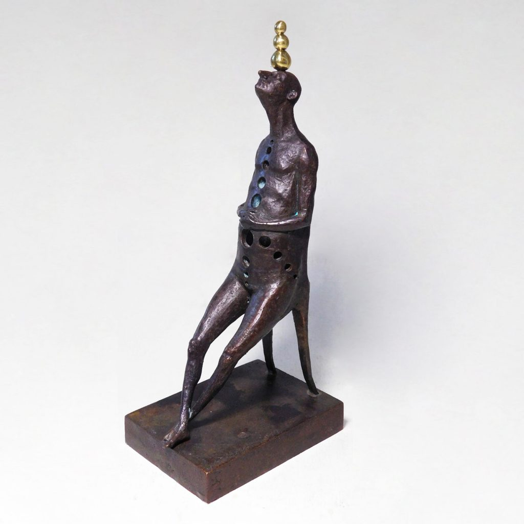 In Search of Balance, bronze sculpture, limited edition